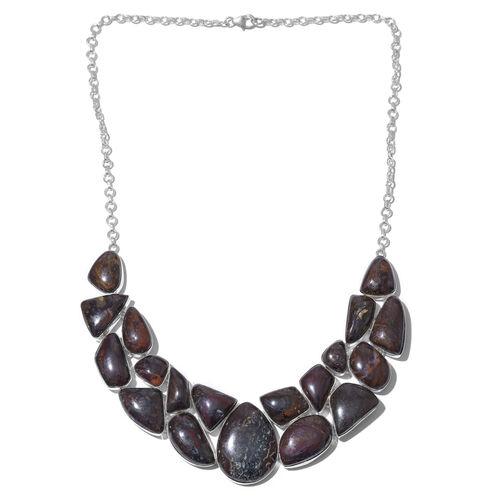 Australian Boulder Opal Rock Necklace (Size 18) in Sterling Silver 260.000 Ct.