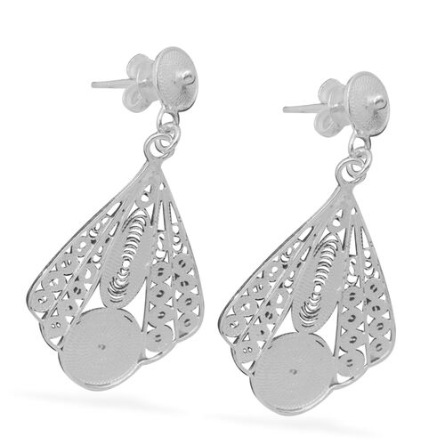Thai Sterling Silver Earrings (with Push Back), Silver wt 4.70 Gms.