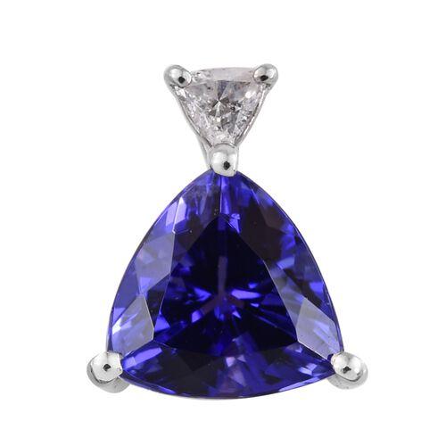 RHAPSODY 950 Platinum 2.10 Ct AAAA Tanzanite Pendant with Diamond (VS/E-F)