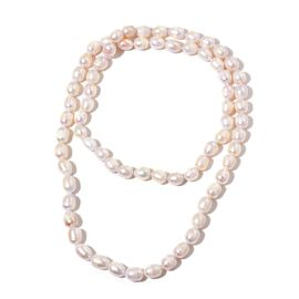 Exclusive Edition Top Lustre Premium Fresh Water White Pearl Necklace (Size 36)