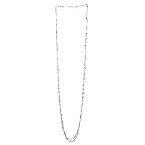 Close Out Deal Sterling Silver Circle Necklace (Size 100), Silver wt 15.00 Gms.