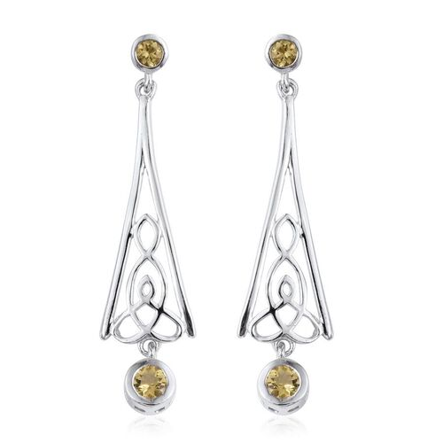 Marialite (Rnd) Earrings (with Push Back) in Platinum Overlay Sterling Silver 0.750 Ct.