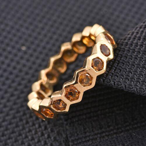 Citrine (Rnd) Full Eternity Ring in 14K Gold Overlay Sterling Silver 2.000 Ct.