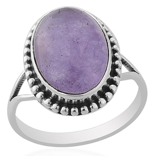 ARTISAN CRAFTED Purple Jade (4.11 Ct) Sterling Silver Ring