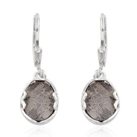 Meteorite (Ovl) Earrings in Platinum Overlay Sterling Silver 12.000 Ct.