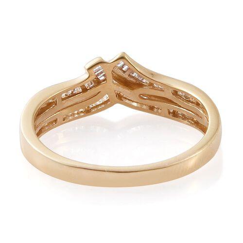 Diamond (Bgt) Ring in 14K Gold Overlay Sterling Silver 0.330 Ct.