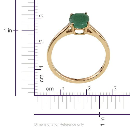 Kagem Zambian Emerald (Ovl) Solitaire Ring in 14K Gold Overlay Sterling Silver 1.250 Ct.