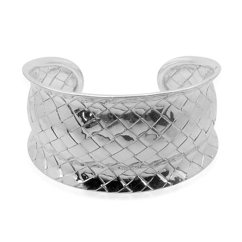 Royal Bali Collection Sterling Silver Cuff Bangle (Size 7.5), Silver wt 35.40 Gms.