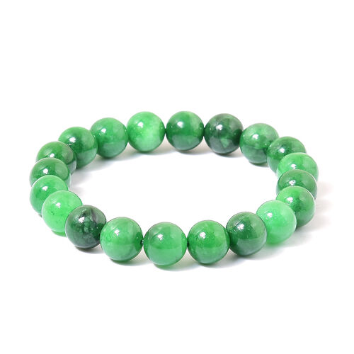 Rare Size Green Jade Stretchable Bracelet (Size 7.5) 150.000 Ct.