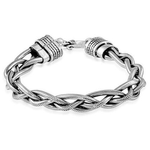 Sterling Silver Braided Bracelet (Size 7.5), Silver wt 33.60 Gms.