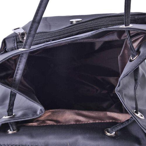 Designer Inspired Black Colour Back Pack (Size 32x27x13 Cm)