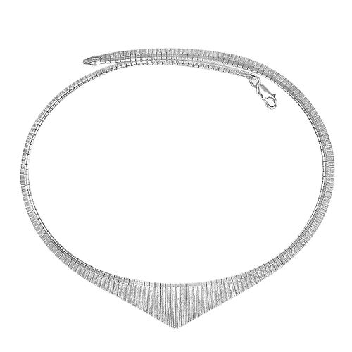 Italian Made - Sterling Silver Cleopatra Necklace (Size 17), Silver wt. 26.39 Gms.