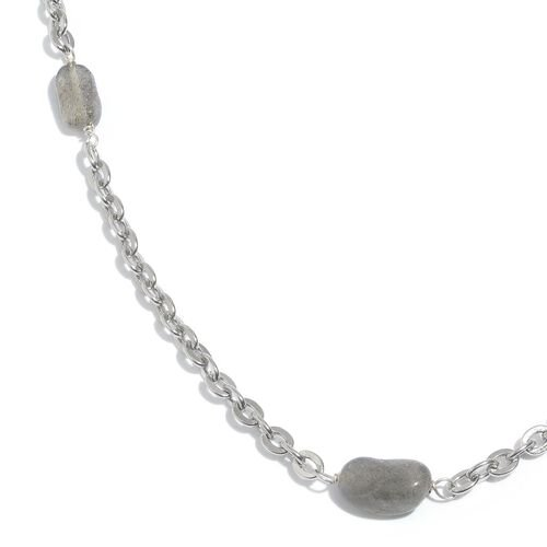 Labradorite Station Necklace (Size 20 with 1.5 inch Extender) 9.710 Ct.