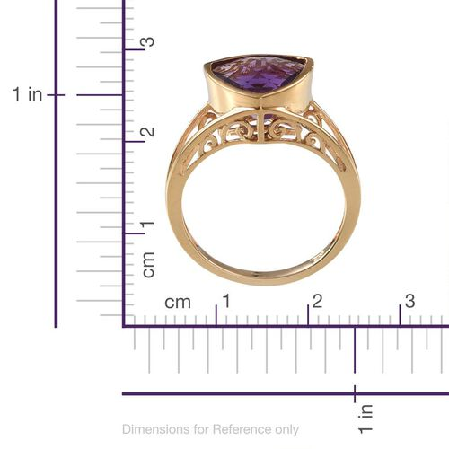 Amethyst (Trl) Solitaire Ring in 14K Gold Overlay Sterling Silver 3.250 Ct.