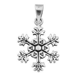 Thai Sterling Silver Snowflake Pendant, Silver wt 3.00 Gms.