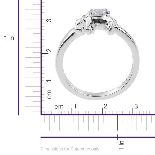 J Francis - Sterling Silver (Ovl) Elephant Ring Made with SWAROVSKI ZIRCONIA