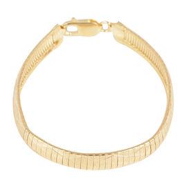 Close Out Deal 14K Gold Overlay Sterling Silver Cleopatra Bracelet (Size 7.5), Silver wt 17.70 Gms.