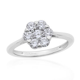 RHAPSODY 950 Platinum IGI Certified Diamond (Rnd) (VS/ E-F) 7 Stone Floral Ring 1.000 Ct.