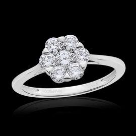 Collectors Edition- RHAPSODY 950 Platinum IGI Certified Diamond (Rnd) (VS/E-F) 7 Stone Floral Ring 1.000 Ct.