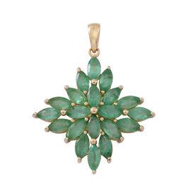 Brazilian Emerald (4.50 Ct) 9K Y Gold Pendant  4.500  Ct.