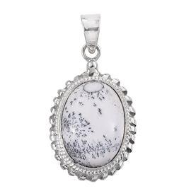 Norseman Dendritic Opal (Ovl) Pendant in Sterling Silver 11.710 Ct.
