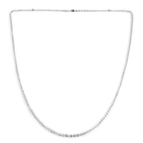 JCK Vegas Collection Sterling Silver Open Circle Chain (Size 36), Silver wt. 5.70 Gms.