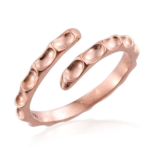 Silver Stacker Ring in Rose Overlay