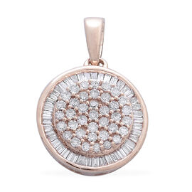 Exclusive Edition- 9K Rose Gold Natural Pink Diamond (Rnd) Pendant 0.500 Ct.
