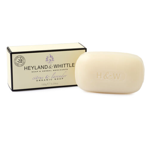 HEYLAND AND WHITTLE Citrus and Lavender Body Scrub, Organic Soap, Diffuser, Candle