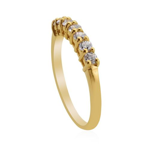 J Francis- 14K Gold Overlay Sterling Silver Ring  Made With SWAROVSKI ZIRCONIA  0.900  Ct.