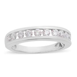 RHAPSODY 950 Platinum IGI Certified Diamond (Rnd) (VS/E-F) Half Eternity Ring 1.000 Ct.