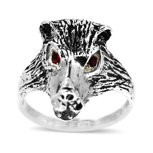 AAA Red Austrian Crystal (Rnd) Ring in Sterling Silver