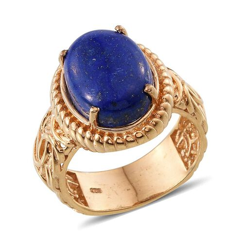 Lapis Lazuli (Ovl) Ring in 14K Gold Overlay Sterling Silver 11.000 Ct.