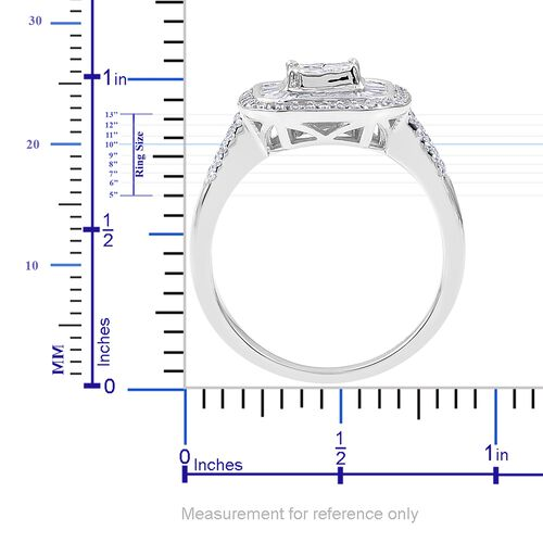 ILIANA 18K White Gold 1.02 Ct Diamond (Princess Cut) Ring IGI Certified (SI/G-H)