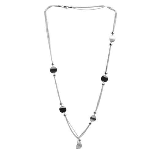Close Out Deal Sterling Silver Station Necklace (Size 24), Silver wt 12.20 Gms.