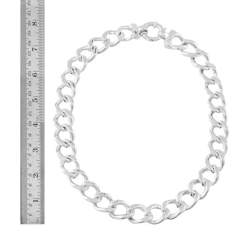 Vicenza Collection- Designer Inspired Sterling Silver Curb Necklace (Size 20), Silver wt. 55.00 Gms.
