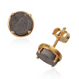 Meteorite (Rnd) Stud Earrings (with Push Back) in 14K Gold Overlay Sterling Silver 9.250 Ct.