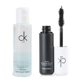 CK One Volumizing Mascara Brown 12ml with Eye Makeup Remover 125ml