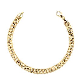 9K Yellow Gold Bracelet (Size 7.5 with 1 inch Extender), Gold wt 4.12 Gms.