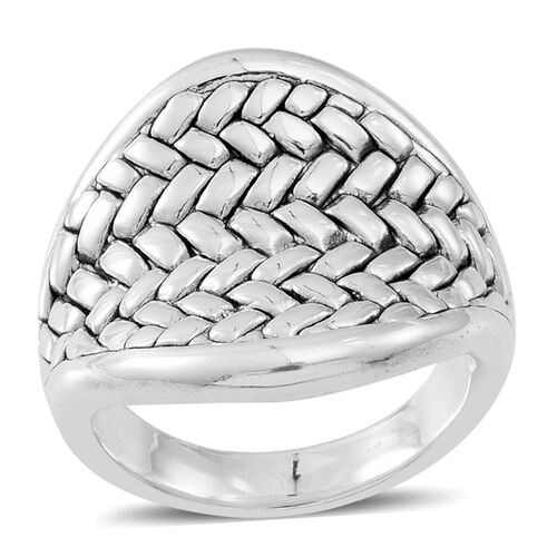 Sterling Silver Weave Mat Ring, Silver wt 5.52 Gms.