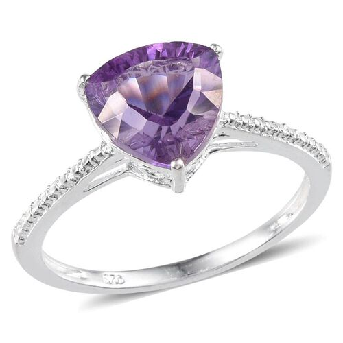 Amethyst (Trl) Solitaire Ring in Sterling Silver 2.750 Ct.