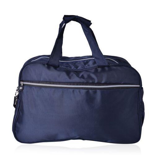 Navy Colour Travel Bag with Adjustable Shoulder Strap (Size 47X29X20 Cm)