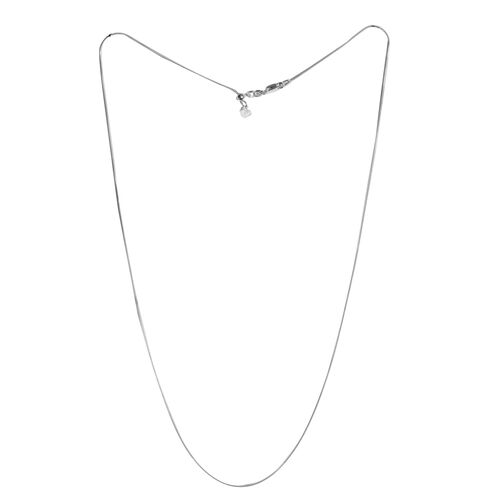 Sterling Silver Adjustable Snake Chain (Size 24), Silver wt 3.60 Gms.
