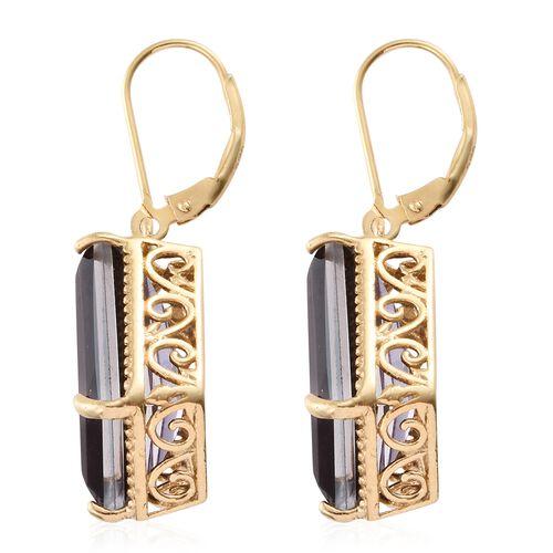 Alexandria Quartz Lever Back Earrings in 14K Gold Overlay Sterling Silver 20.000 Ct.