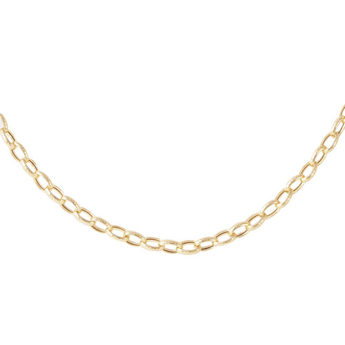 JCK Vegas Collection 9K Y Gold Diamond Cut Belcher Necklace (Size 20), Gold wt. 8.30 Gms.