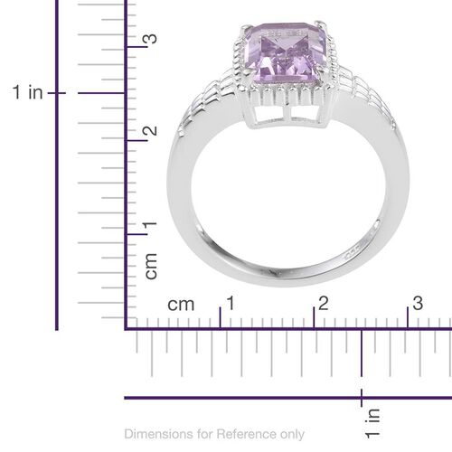 Rose De France Amethyst (Oct) Solitaire Ring in Sterling Silver 2.250 Ct.
