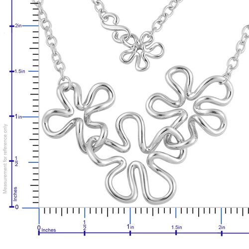 LucyQ Splash Necklace (Size 21) in Rhodium Plated Sterling Silver 32.08 Gms.