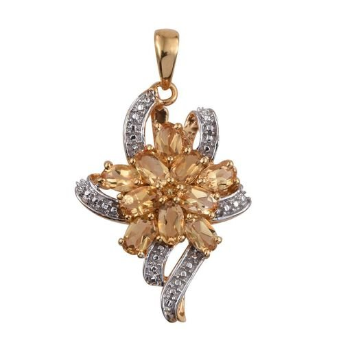 Citrine (Ovl) Pendant in 14K Gold Overlay Sterling Silver 2.250 Ct.