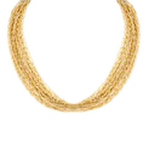 JCK Vegas Collection Designer Inspired Multi Strand Necklace (Size 18 with 3 inch Extender) Gold Plated