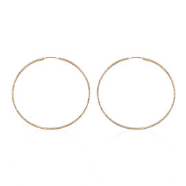 Royal Bali Collection 9K Yellow Gold Hoop Earrings